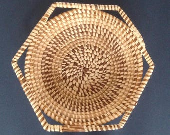 beautiful vintage woven basket