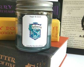 Slytherin,Snape, Voldemort, Malfoy, Bellatrix, Harry Potter candle,Hogwarts, Magic, Draco, House pride, Bookish,Candle, Bibliophile