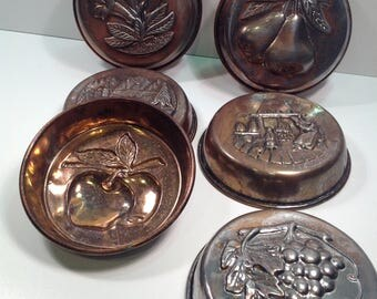 Vintage Copper Mold Kitchen Decor
