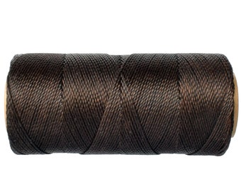 Bracelet Cord - 15 meters/16 yards - Linhasita Cor 667 - Waxed Polyester Cord - Macrame Cord - Dark Brown