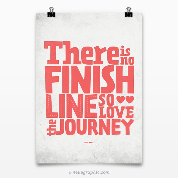 Love the Journey, Graduate gift, Motivational posters, Inspirational poster, Typography poster, Quote print, Motivational wall art
