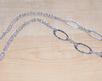 Silver Chain Necklace, Women's Necklace, Long Necklace