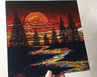 Firey Sunset original painting