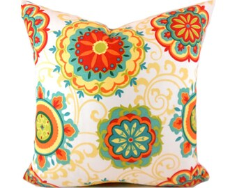 Indoor Outdoor Pillow Covers ANY SIZE Decorative Pillows Orange Pillow Outdoor Pillow Mill Creek Outdoor Farrington Pizazz