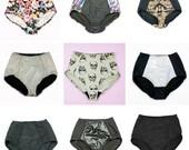 High Waist Panties - Choose Any 2 Retro Lingerie BUNDLE DEAL