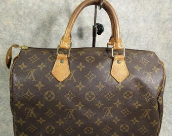 Reserved for Christine Louis Vuitton Vintage Handbag Speedy 30 Monogram1993, Canvas&Cowhide in Good, Zip's Head Instead for fully Useful