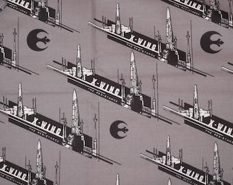 Gray Star Wars X-Wings Pillowcase