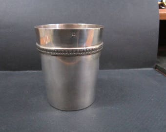 antique French silver Baptismal cup
