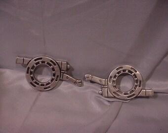 Pair of Unique Napkin Rings Antique Cannon Shape Wilton 1947 PA Maker