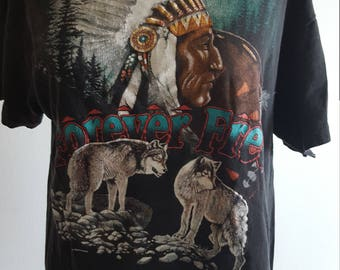 Native American festival distressed tee
