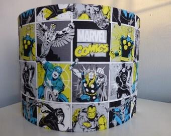 Marvel Immortals Comics Blue*Yellow Daredevil*Iron Man*Thor*Spiderman*Cpt America*Nova*FalconBlack Widow cotton Fabric Lampshade~30cm & 20cm
