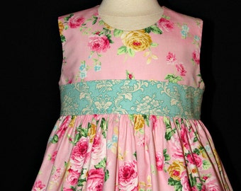 Spring summer Easter church dress size 2 ready to ship MADE in the USA