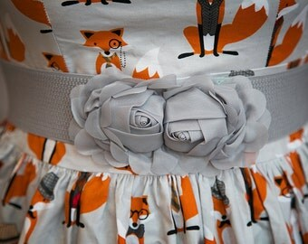 Grey Flower Belt
