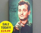"SALE TODAY Key Holder BiLL MURRAy Key Holder & Wood Mounted Wall Art ""Don't Forget These"" Bill Murray PERsONALIZE Your Own! 2 sizes"