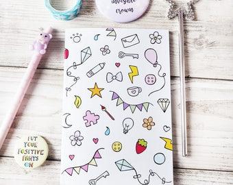 Cute Notebook Organiser Blogger Sketchbook Cute Stationery Notepad