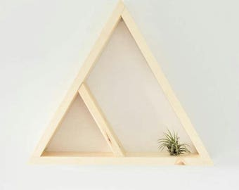 The Triangle Shelf | Bare Finish