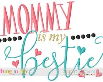 Mommy is my Bestie  - Baby Custom Tee Shirt - Customizable