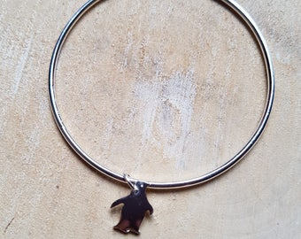 Penguin Charm Bangle Silver Bangle Penguin Bangle Penguin Charm