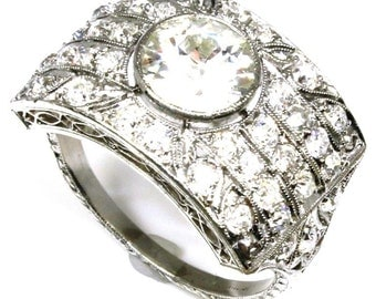 2.40ctw Old European Cut Diamond Ring