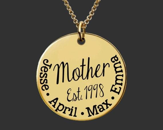 Gold Mothers Necklace | Gold Mom Necklace Mother's Day | Gifts for Mom | Gifts for Mom | Mommy Necklace | Inspirational | Korena Loves