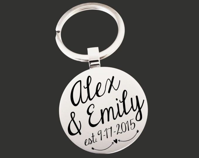 Custom Keychain | Wife Gifts | Girlfriend Gift | Fiance Gift | Anniversary Gift | Personalized Gifts | Korena Loves