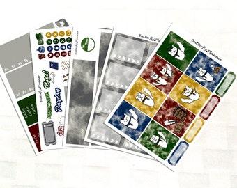 Tiggero Wizard Watercolor Planner Sticker Kit, Vinyl Stickers, Magical, Happy Planner Sized