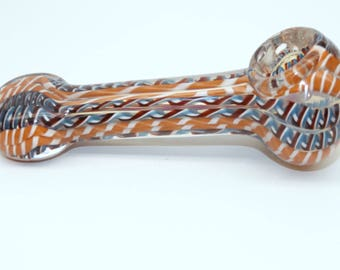 5 inch Color Ribbon Spoon Glass Pipe