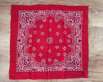 Vintage Cherry Red Bandana