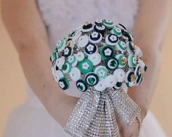 Button Bouquets  wedding , vintage wedding , bride , bridal bouquet , bridesmaid , flowergirl