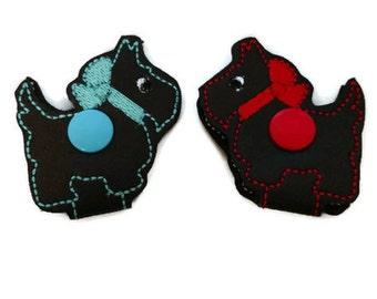 Scottie Dog cord holder, earbud holder, cute dog cord holder, headphone holder, cord keeper, mom's day gift, dog mom gift, graduation