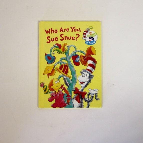 Dr. Seuss quién eres Sue Snuelibro de la por MyForgottenTreasures