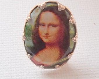 Vintage 1990s Mona Lisa Brooch Pin Five Pound Bargain
