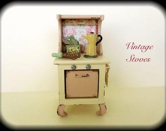 Dollhouse Miniature Stove Vintage Provence