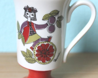 Corsica Arnart Vintage Pedestal Mug