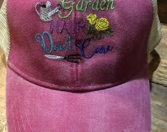 Garden Hair Don't Care Baseball Cap