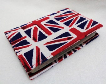 Union Jack Design Passport Cover - Fabric Passport Holder - Fabric Passport Case - Travel Wallet - Red White and Blue - British Flag