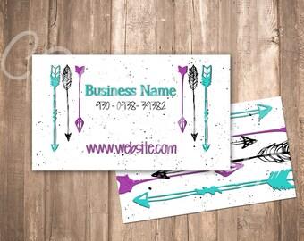 Business Card Arrows {Aztec}
