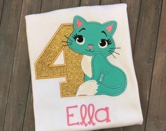 Personalized Cat/Kitten Birthday Shirt