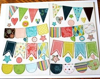 Shabby Chic Baby Mine Chipboard Banners Set from Fancy Pants Designs