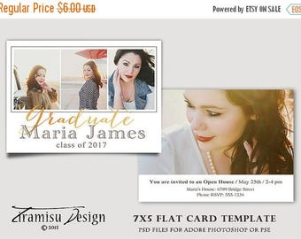 ON SALE Senior Graduation Announcement Template for Photographers,sku 21-16 INSTANT Download