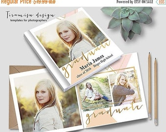 ON SALE 12x12 Senior Album Photoshop Template, Photo Album for Pro Photographers, Photobook Template