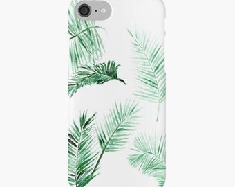 Palm Leaf iPhone Case, tropical iphone case, palm iPhone case, palm leaf iPhone, palm leaf case, leaf iphone 7 case, leaf iphone 6 case