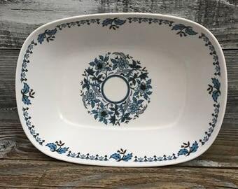 "Vintage Noritake Progression China Blue Moon Casserole Dish 9"" Vegtable Bowl"