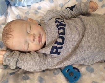 newborn baby boy Ryan sculpted by Michelle Fagan reborn artist Michele Bouille available for adoption