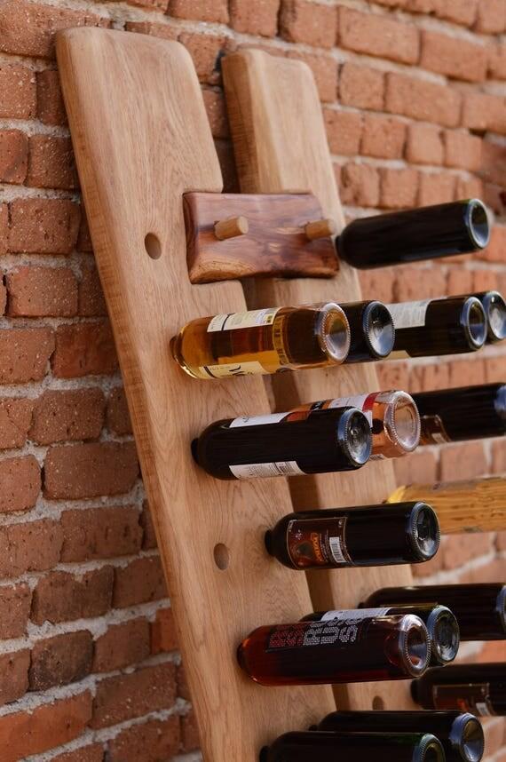 Casier à vin bois massif stockage vin rack vin debout bois