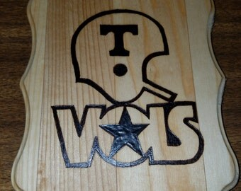 Wood Burned Tennessee Vols Plaque