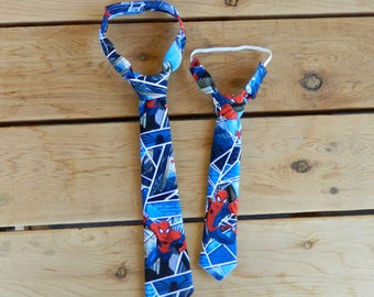 Spiderman Adjustable Infant/Toddler Neck Tie or Bow-Tie: 0-18 months, 2T-4T, 5T/6T, 7/8