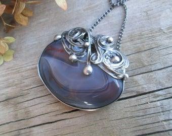pendant with Botswana agate