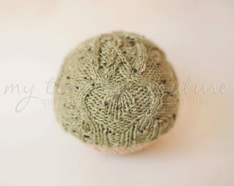 Newborn {Deep Roots} Knit Cable Beanie - Newborn Photography Prop- Several Color Options