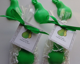 20 Pear Soap Favors, Wedding Favors, Anniversary Parties, Special Occasion Favors